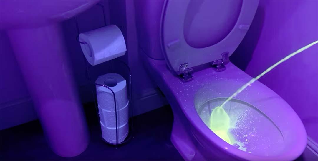 La luz ultravioleta en un WC descubre algo que pone los pelos de punta. 2