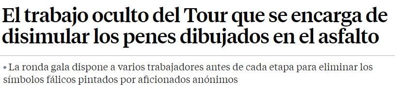 Hoy en la prensa seria, el Tour y sus secretos... 1