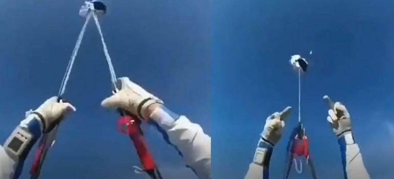 Paracaidista salva milagrosamente la vida al fallarle en paracaídas. 6