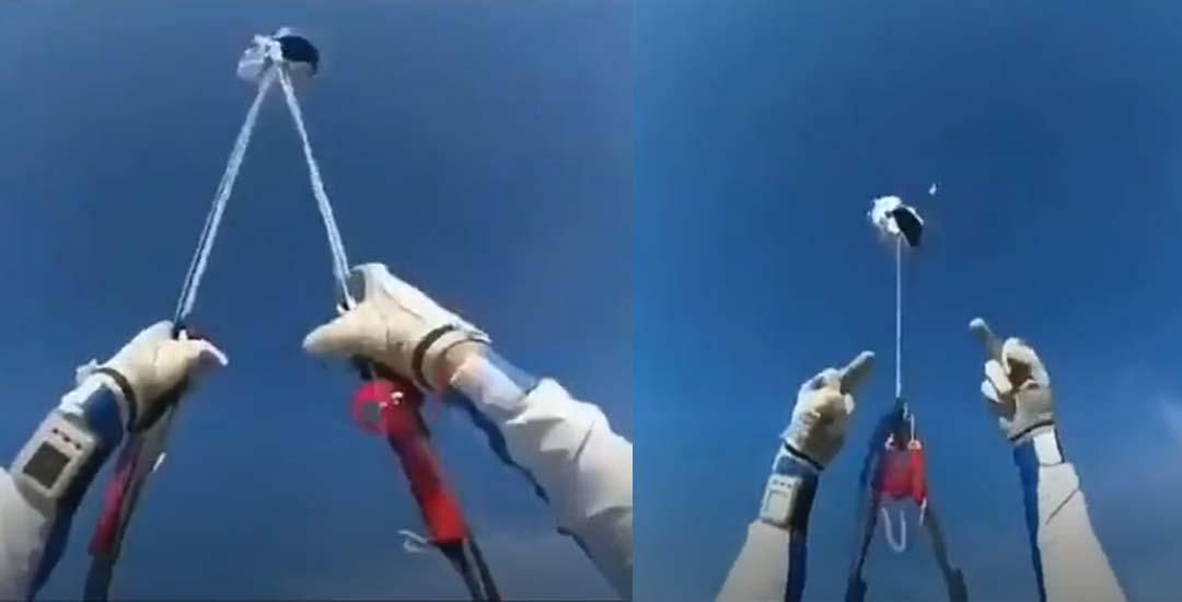 Paracaidista salva milagrosamente la vida al fallarle en paracaídas.