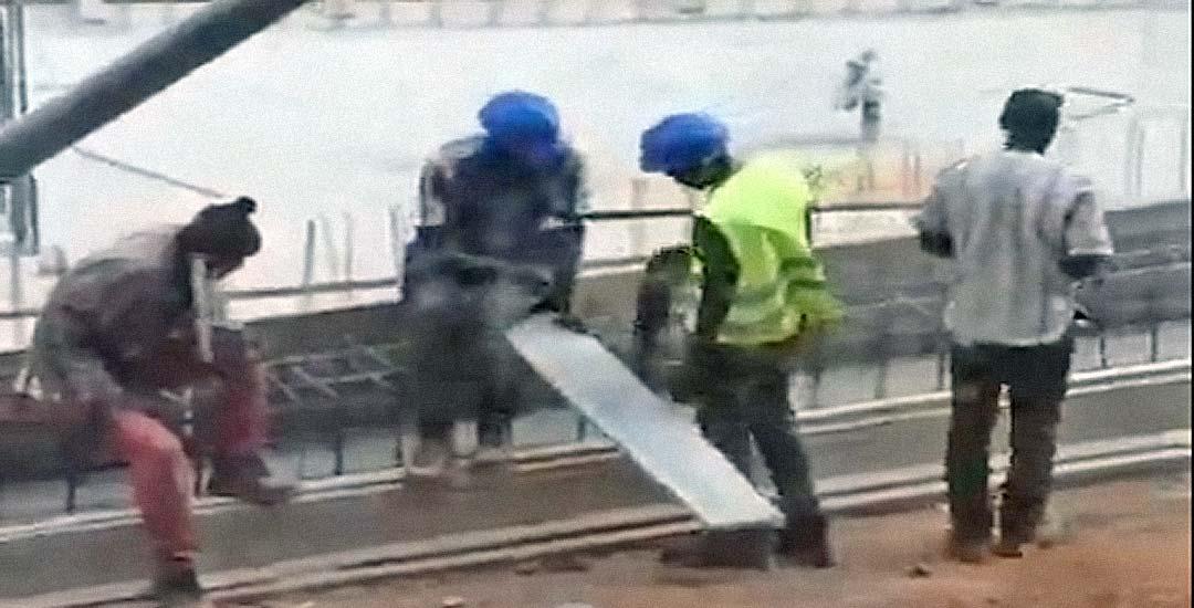 No te pierdas a este trabajador que no sabe usar un serrucho.