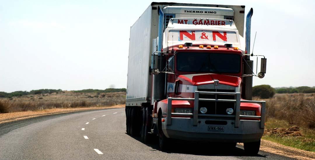 Se encuentra un camión de frente al dar una curva. Vídeo. 1