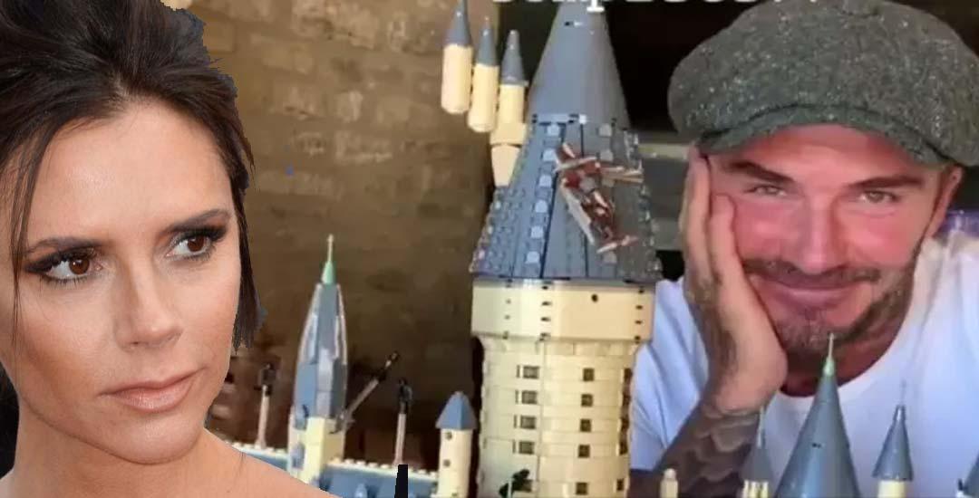 Victoria Beckam orgullosa de su marido que ha construido un Castillo con sus manos.