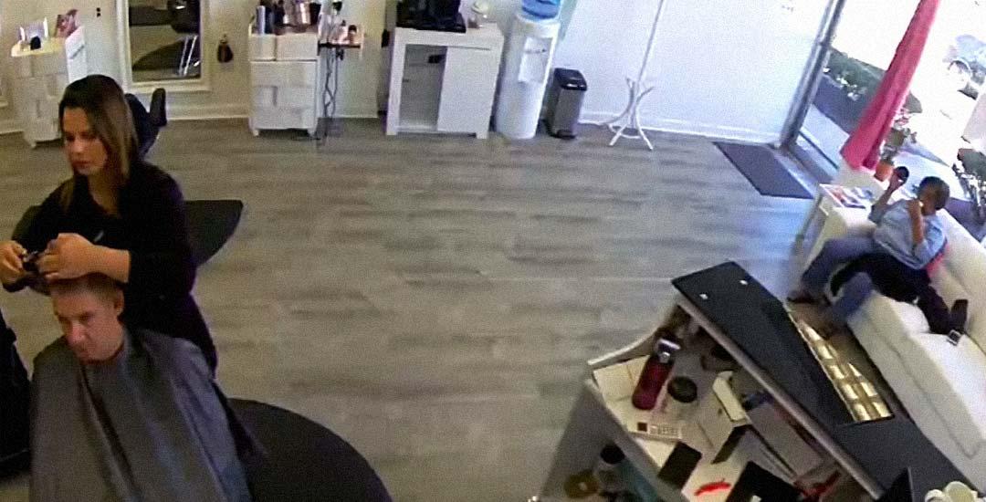 Un Ciervo destroza una peluquería en Long Island 3