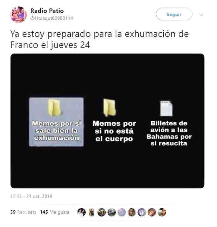 Los memes de Franco y su exhumación 18
