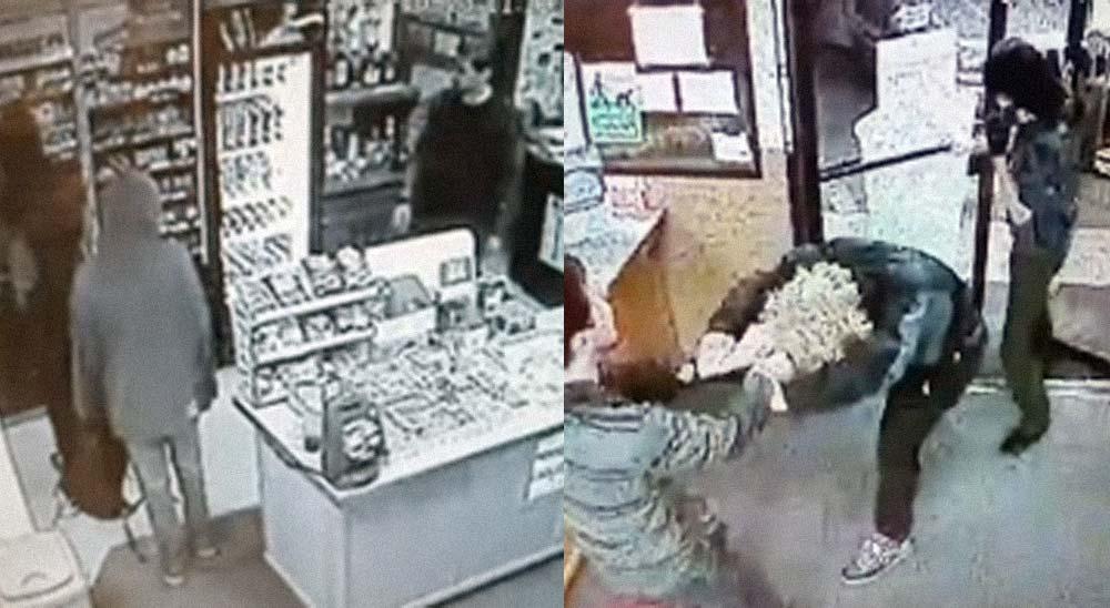 Dueño de tienda se enfrenta a tres ladrones 6
