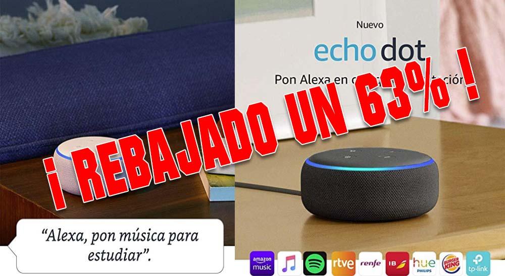 Echo Dot, el altavoz de Amazon a menos de la mitad de su precio !!! 2