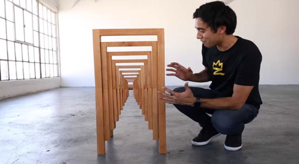 Curiosas ilusiones ópticas usando muebles