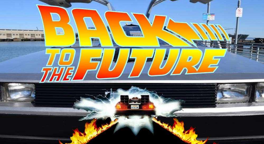 El coche de Regreso al Futuro convertido en un aerodeslizador 3