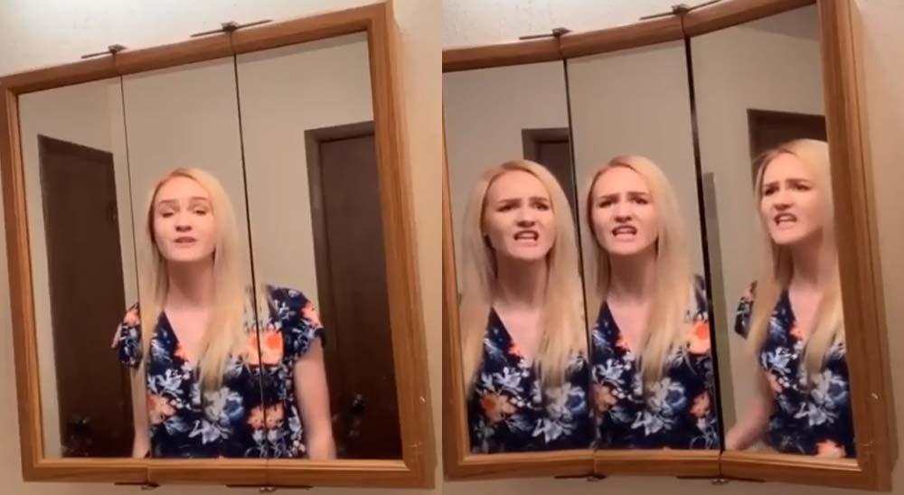 Versión de Bohemian Rhapsody frente a un espejo