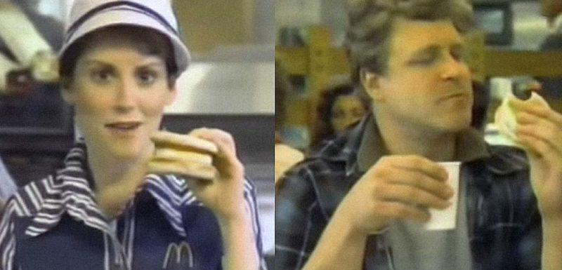 En este anuncio de McDonald's de 1983 salen dos famosos 1