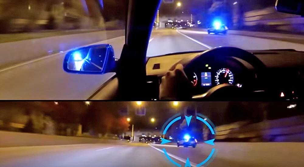 Audi RS4 buscando a la policía para que lo persiga 1