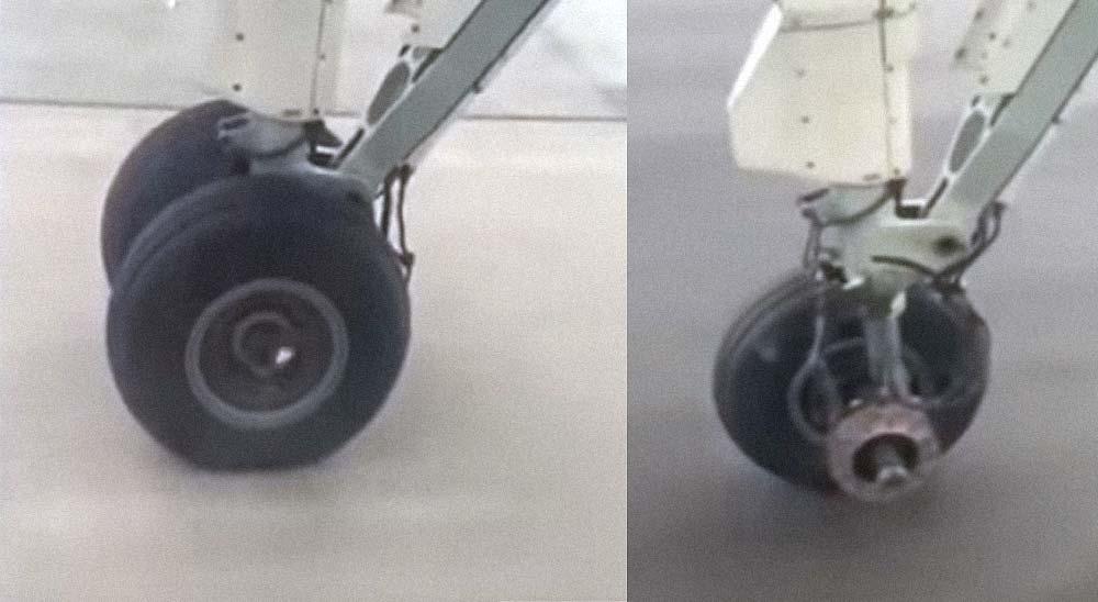 Pánico al comprobar que un avión pierde una rueda al despegar 3