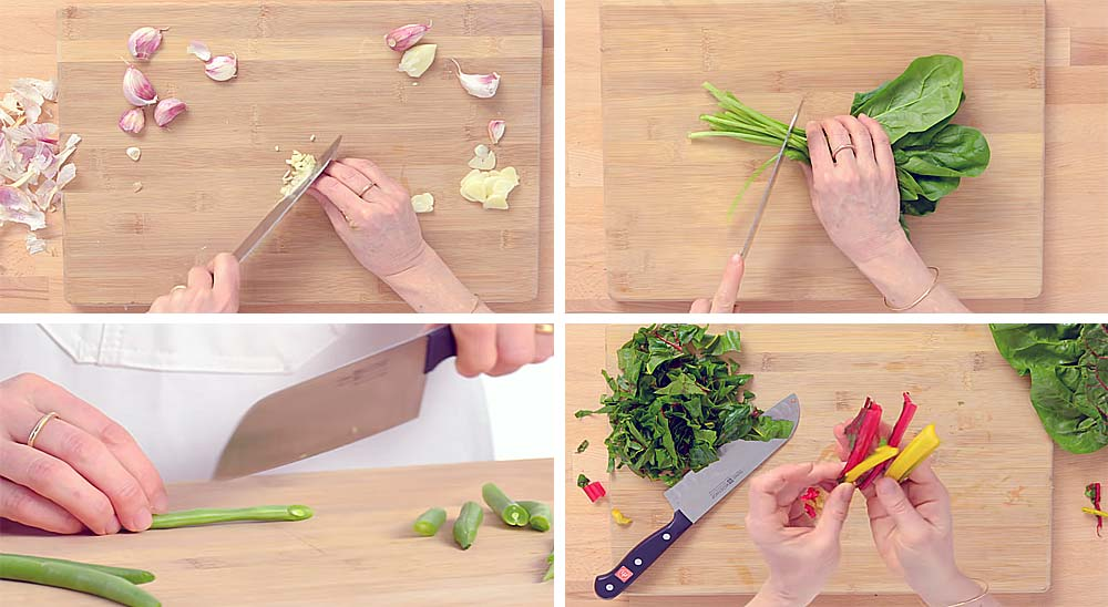 Aprende a cortar vegetales y a pelar ajos y patatas fácilmente