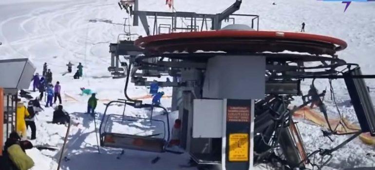 El remonte se vuelve loco y lanza a los esquiadores por los aires 2