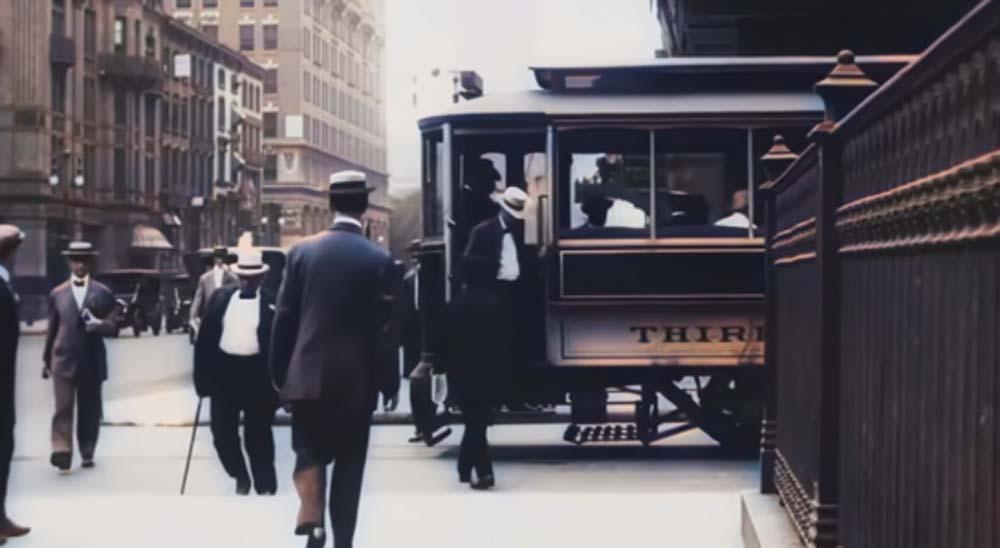 Vídeos de Nueva York de 1911, convertidos a 4K y coloreados gracias a las redes neuronales 1