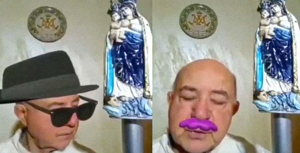 Sacerdote Italiano da la misa sin desactivar los filtros de instagram 3