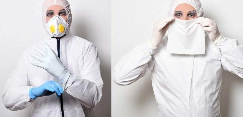 Demostración visual de como se propagan los virus al toser usando diferentes protecciones 1