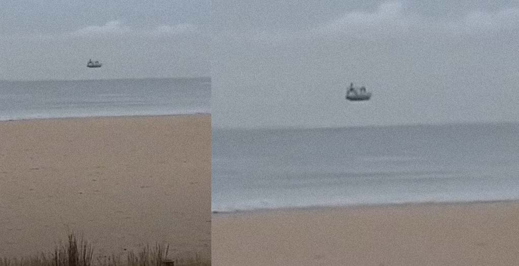 El barco que flota en el aire, curiosa ilusión óptica 1