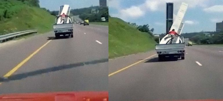 Fail sujetando la carga de la camioneta, ¿que puede salir mal? 4