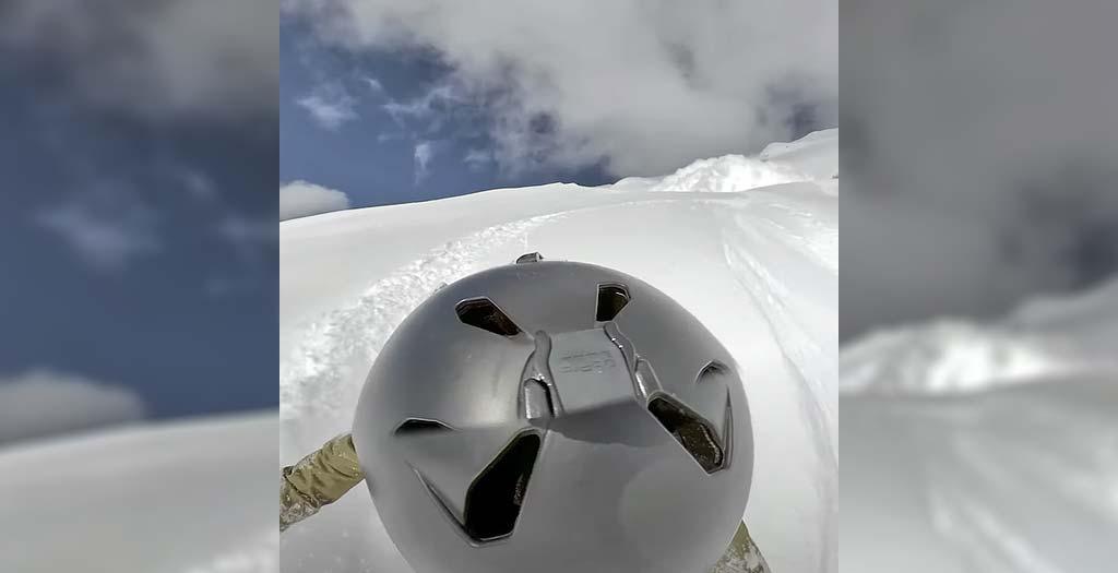 Graba con su GoPro una avalancha de nieve que le sepulta 1