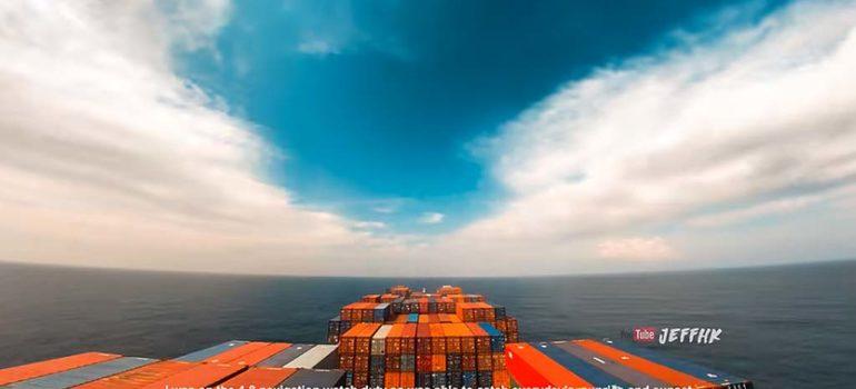 Timelapse grabado a bordo de un carguero nos deja imágenes espectaculares 4