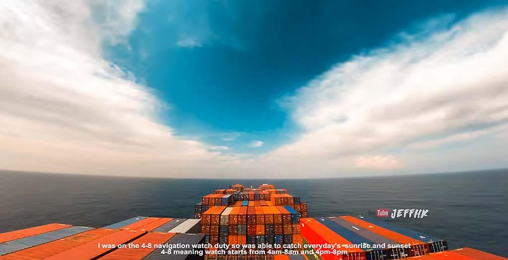 Timelapse grabado a bordo de un carguero nos deja imágenes espectaculares 2