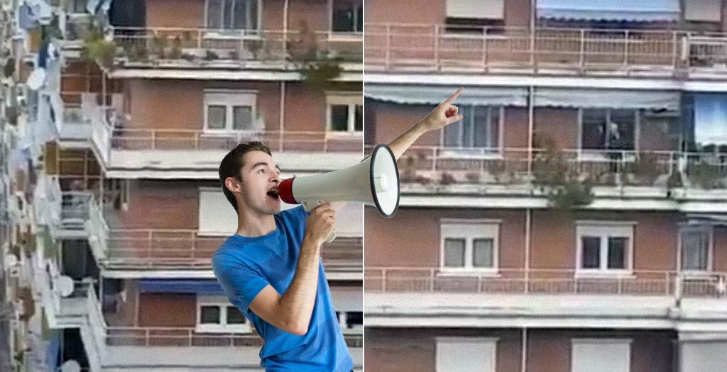 Trepidante retransmisión de los paseos de sus vecinos como si fuera una carrera