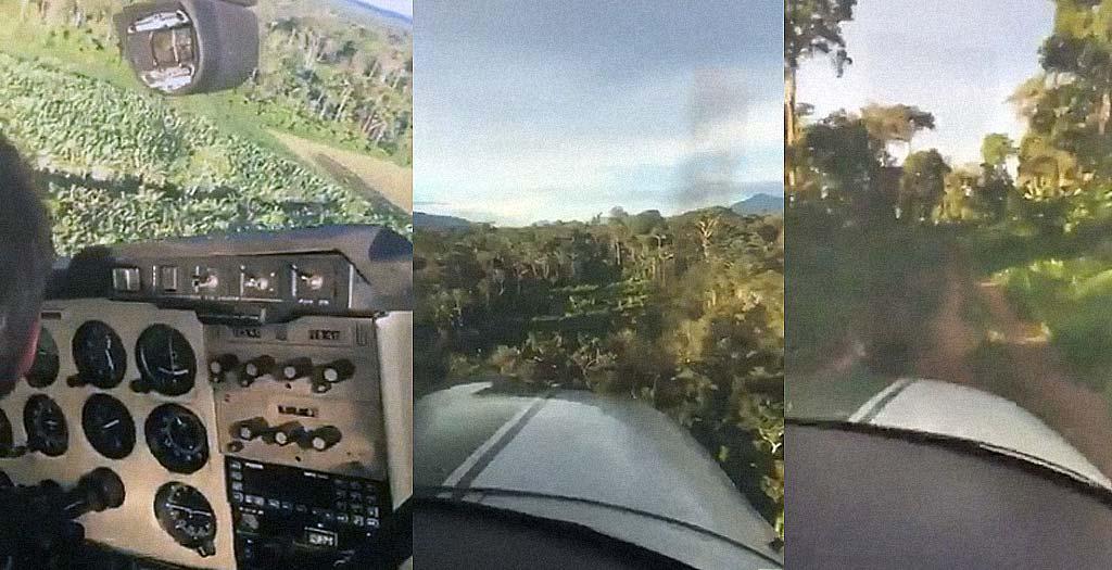 Aterrizando una avioneta en medio de la jungla 1