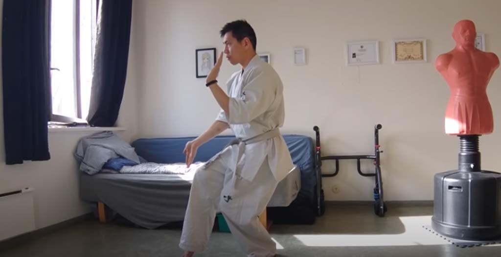 Rutina de entrenamiento de un karateca en casa 1