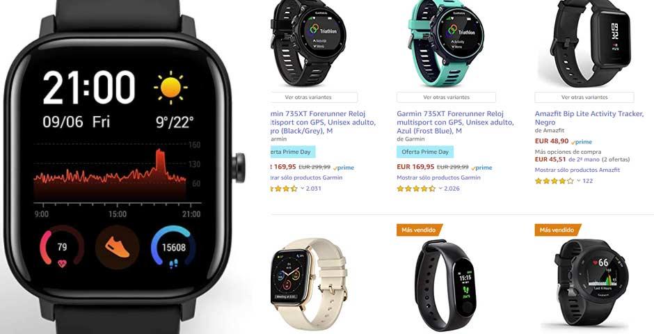 Las mejores ofertas de relojes deportivos en Amazon Prime Day 1