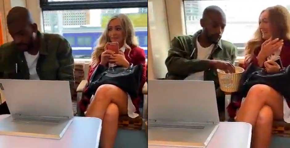 Esta chica no se cree lo que la esta pasando en el metro 2